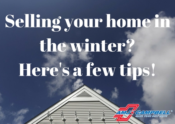 Selling your home in the winter-Here's a few tips!
